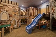 So, this is a little of what I have in mind--maybe not this theme, but integrating rooms and cubbies so that there are reading nooks, blackboards and climbing areas all in one space.