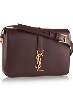 Saint Laurent|Monogramme Sac Université leather shoulder bag|NET-A-PORTER.COM