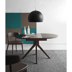 tavolo rotondo gambe incrociate legno | tavoli e tavolini ... - Tavolo Rotondo Allungabile