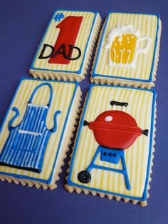 Father's Day BBQ Cookie Gift Set