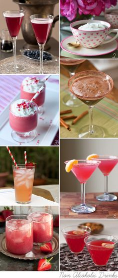 Delicious Non-Alcoholic Valentine's Cocktail Ideas | onefabday.com #SignatureCocktails #WeddingInspiration #ValentinesDay