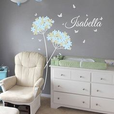 Vinyl wall decal Dandelion Butterflies with by missymoovinyl