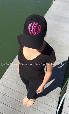 Ladies Personalized Baseball cap 15 color with FREE Monogram - Beach, Boating, Running, Lake, Fishing, Brides, Bridal Party, Birthdays, Gift by UniqueMemoriesLeAnn on Etsy