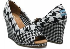 Yeah, I'd wear these  :o)  ... Houndstooth Toms Wedge