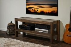 It is a beautiful or simple wooden pallet idea about the TV console which is also called Pallet TV stand, you can watch in the picture that it is only a simple wooden bench which is used as a TV console.So, if you have some pallets in your home then you can make this wooden idea in your home easily or carefully.