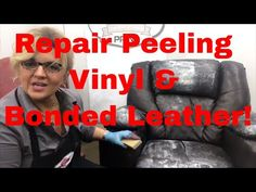 How to repair peeling bonded leather and Vinyl using our amazing NEW repair product, BOND-N-FLEX. Fix major holes, tears, cuts, peeling and delaminating viny. Leather Couch Repair, Leather Furniture Repair, Leather Car Seats, Leather Recliner, Leather Chairs, Leather Sectional, Chair Repair, Painting Leather, Leather