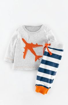 Free shipping and returns on Mini Boden Print T-Shirt & Stripe Pants (Baby Boys) at Nordstrom.com. He can play in cute and casual style in this graphic T-shirt paired with comfy striped pants.