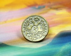Double-headed Eagle Metal Buttons, Brass White Patina Color , Shank , 0.57 inch, 8 pcs on Etsy, $5.00