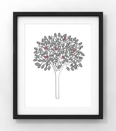 Downloadable Art Sketch Tree Blossoms Home Decor by fileclerk Modern Art, Contemporary Art, Minimalist Art, Blossoms, Art Sketches, Nursery, Unique Jewelry, Handmade Gifts, Etsy