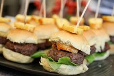 Mini Hawaiian Burgers Recipe. Great for a Superbowl party!