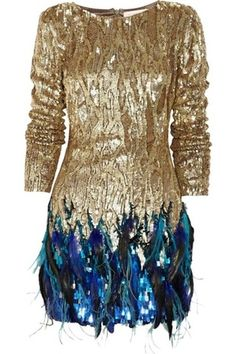 Matthew Williamson Sequin and Feather Dress Profile Photo
