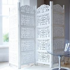 Hand carved wooden screen