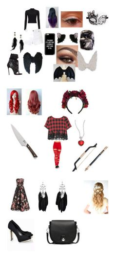 """outfit"" by nightmare-884 on Polyvore featuring Miss Selfridge, Casetify, Betsey Johnson, Dsquared2, art, Alexander McQueen, Christian Louboutin and rag & bone"