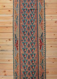 Turkish Rug Runner Boho Rug  2.59 x 10.03 ft Turkish Kilim Runner Rug Kilim Rug Area Rug Geometric Rug Bohemian Decor Kilim Ottoman Wool Rug by Rugsnrunners on Etsy