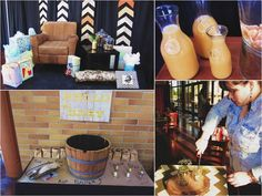 Rustic Chic Baby Shower with SO MANY AWESOME IDEAS via Kara's Party Ideas | LOVE THIS!!