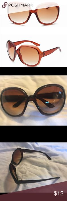 NWT Women's Brown Acrylic over sized glasses Women's over sized vintage style retro round over sized sunglasses 😎 🕶 Accessories Sunglasses
