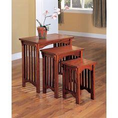 Coaster 901049 3-Piece Mission Style Occasional Nesting Side Table Set, Oak Coaster Home Furnishings http://smile.amazon.com/dp/B000GVB9W6/ref=cm_sw_r_pi_dp_WH3Iub14JK8Q4