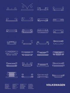Auto Icon Screen Print Series: Volkswagen