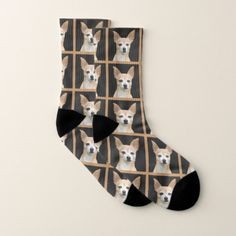 Chihuahua Quotes, Cute Chihuahua, Chihuahua Puppies, Animal Quotes, Black Pattern, Cool Diy, Gift For Lover, Socks, Your Design
