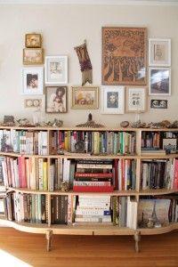 Old dresser, sans drawers. Brilliant bookshelf