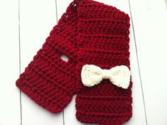 Crochet Toddler Bow Scarf Made to Order by ChucksForChancho, $15.00