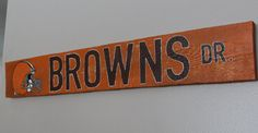 Cleveland Browns Hanging Reclaimed Pallet Wood by PaintnPallet