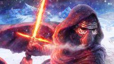 Star Wars Le Réveil De La Force : Dessin combat entre Kylo Ren et Rey sous Photoshop