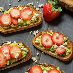 Blue Cheese and Strawberry Avocado Toast