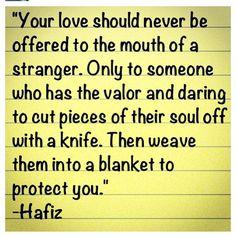 Hafiz. The man