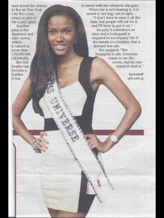 Miss universe wold 2011 -Miss Leila Lopez , was in Singapore's Formular 1 2011- which credit goes to my loveliest Miss Rachel Kum  (Miss world 2010-Singapore ) for the making all this clipping Possible .! Thank u RK...