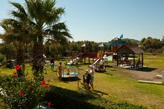 Playground Beach Hotels, Rhodes, Playground, Dolores Park, Cabin, House Styles, Travel, Decor, Children Playground