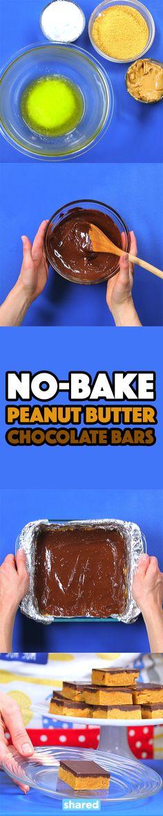 No-Bake Peanut Butter Chocolate Bars