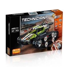 Travel over the toughest terrain with the RC Tracked Racer! Rc Track, Building Blocks Toys, Pack And Ship, Lego Technic, Toy Sale, Caterpillar, Cars, Vehicles, Shop