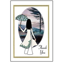 Thank You Note Cards - Vietnamese Women.  3 scenes available.  Price is for a pack of 10 folding cards, blank inside.  Envelopes are included.  $8.50