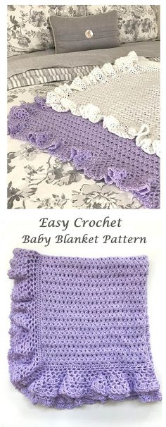 Crochet Baby Blanket Pattern - by Deborah O'Leary Patterns #crochet #baby #blanket #pattern
