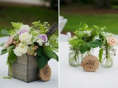 Another centerpiece idea - with the wood stump