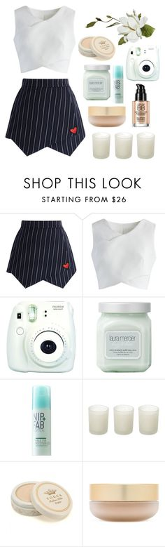"""🐊"" by parkmona ❤ liked on Polyvore featuring Chicwish, Fuji, Laura Mercier, Kale, Casa Couture, Tocca and Eve Lom"