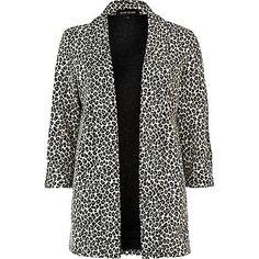 Cream leopard print blazer - blazers - coats / jackets - women