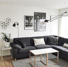 265 Vegglampe Svart - Flos Flos 265, Basement Living Rooms, Floor Lamp, Love Seat, Couch, Interior Design, Wall, Inspiration, Furniture