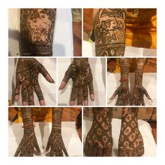 Bridal Mehndi Designs, Bridal Henna, Hand Henna, Hand Tattoos, Arm Tattoos