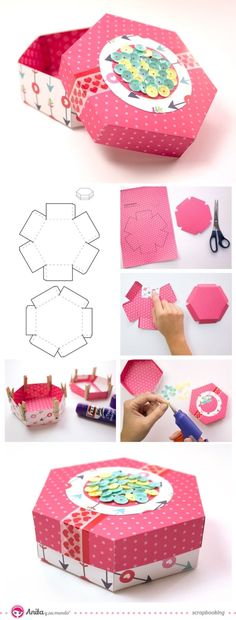 ideas diy paper crafts origami gift boxes for 2019 Diy Gift Box, Diy Box, Diy Gifts, Gift Boxes, Gift Wrap Box, Diy Paper, Paper Crafts, Papier Diy, Craft Box