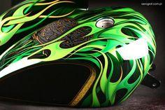 Epic Firetruck's Motor'sicle Paint - Piotr Parczewski Airbrush ~