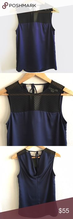 Cooper & Ella Top. This Lace black and Nany blue Top is simply gorgeous. Top Lace and shell is 100% Polyester. Size Small. Brand new condition. Cooper & Ella  Tops Tunics
