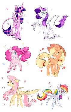 ponies by LillyNya.deviantart.com on @DeviantArt