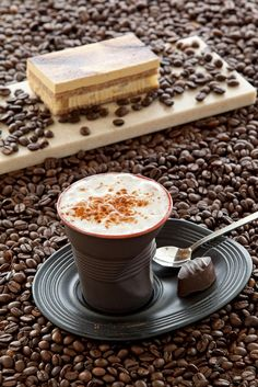 Capuccino in a cup
