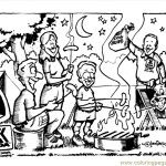 Coloring Pages Camping Page Peoples Others Free