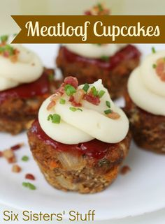 Meatloaf Cupcakes on SixSistersStuff.com - the perfect serving size! Kids love these.