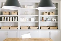 House of Jade Interiors| Wall Color – Benjamin Moore White Dove / Cabinet Paint Color – Mindful Gray