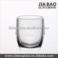 Egg shape glass cup & rock glass & whiskey glass 250ml