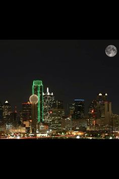 Dallas Texas under the moonlight.....love living here...and shopping here!